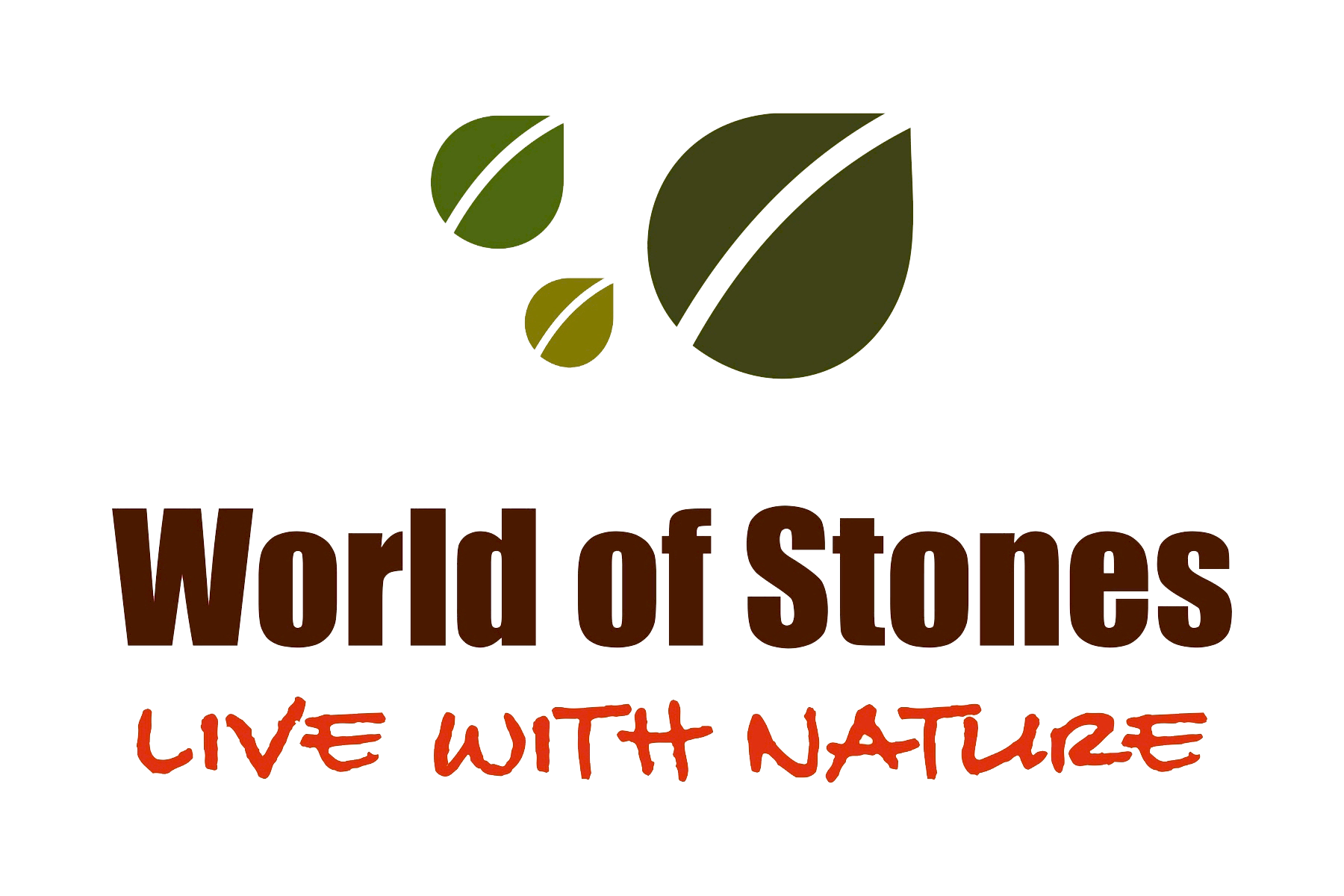 World of Stones logo - Live with Nature